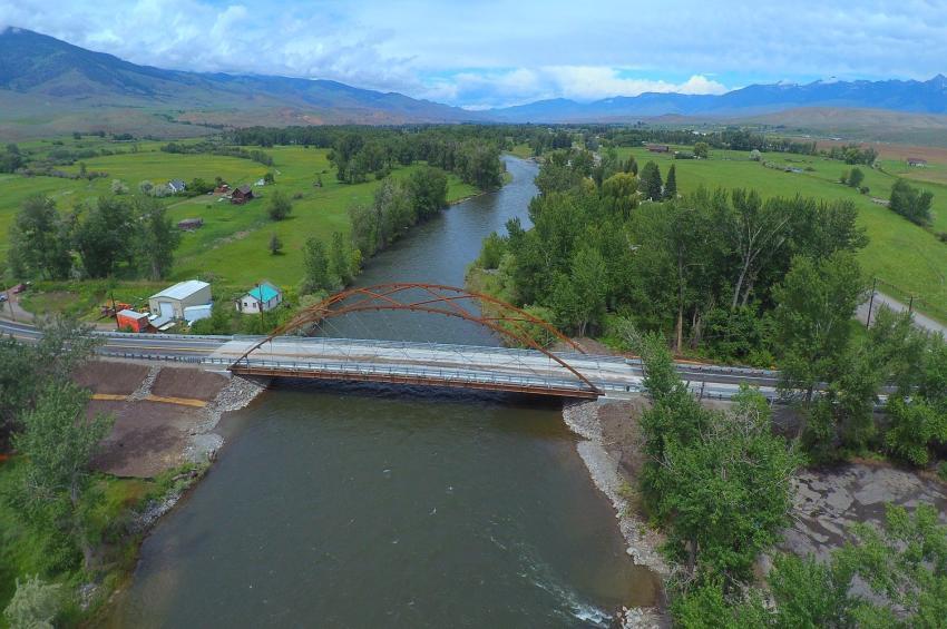 Medium span merit winner: Williams Creek (Shoup) Bridge, Salmon, Idaho (Don Perkins photo)