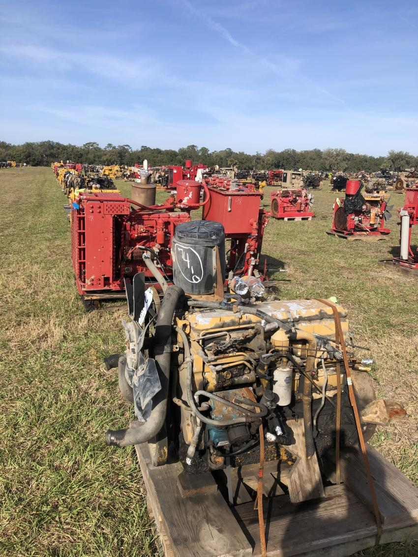 The Yoder & Frey auction featured the largest collection of engines that will be made available anywhere in the world this year.