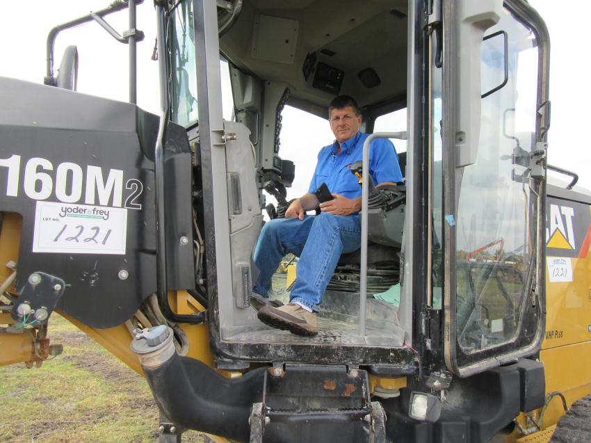K&S Equipment's Scott Young, Woodland, Ala,. purchased six motor graders at the auction.