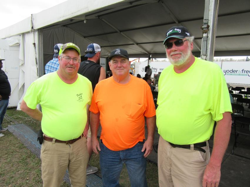 (L-R): Bill Woronka of Father & Son Property Maintenance, Mark Begue of Begue Excavating and Jerry Glessner of Jerry's Trucking & Excavating, all based in Louisville, Ohio, were in search of equipment bargains.
