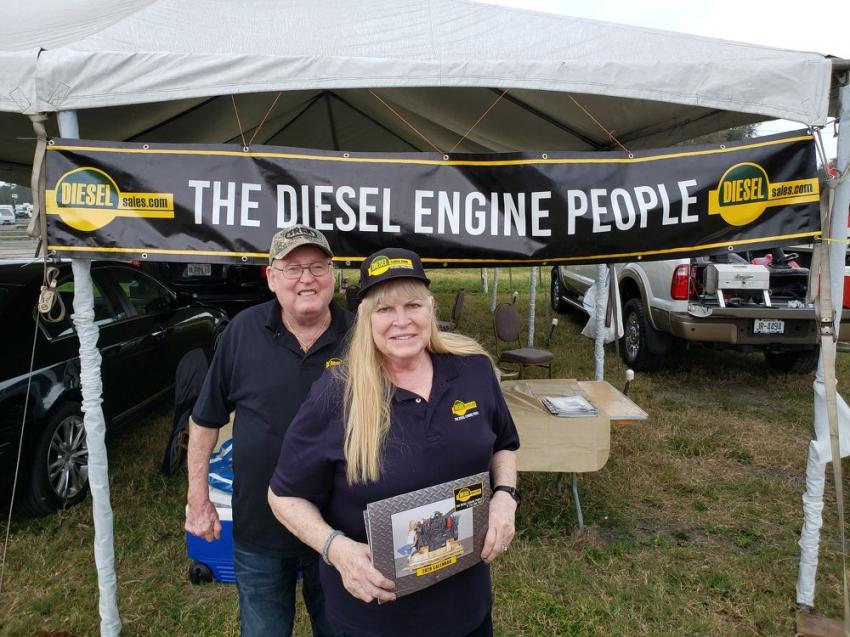 Richard Angst with his wife, Faith, of Diesel Sales, Chicago, Ill.