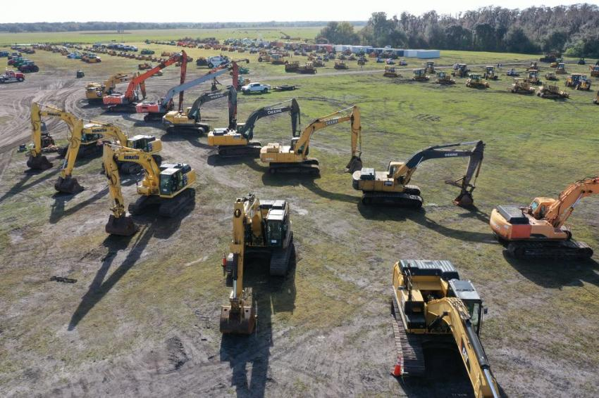All types of equipment were on display at the Yoder & Frey auction.