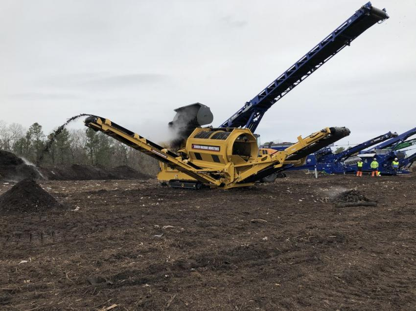 Screen Machine's 612T trommel is put through its paces.