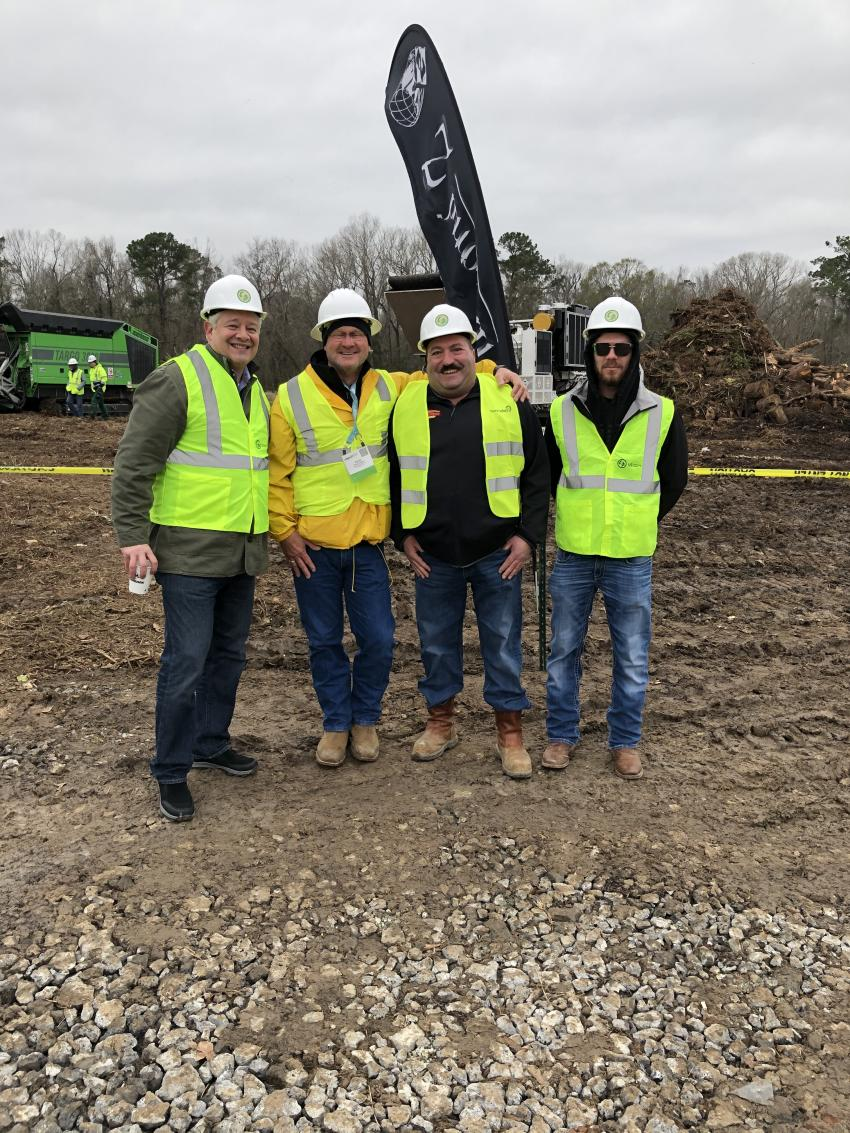(L-R) are John Lamprinakos, CEO of Diamond Z; Randy Hengst of Heavy Machines in Covington, Ga.; Steve and Brett St George of St George Construction in Fredonia, N.Y.