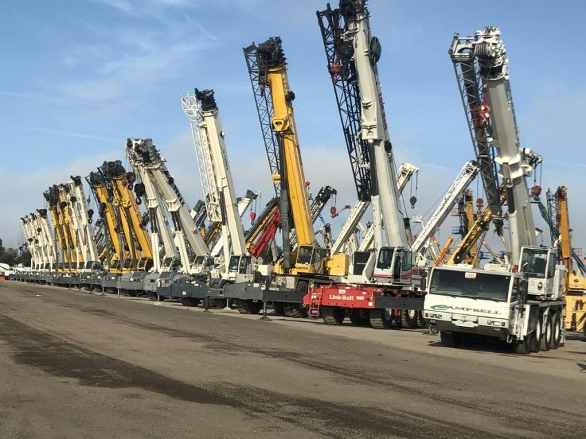 Ninety cranes of all types including crawlers, all-terrain, truck cranes and more were sold on day three.