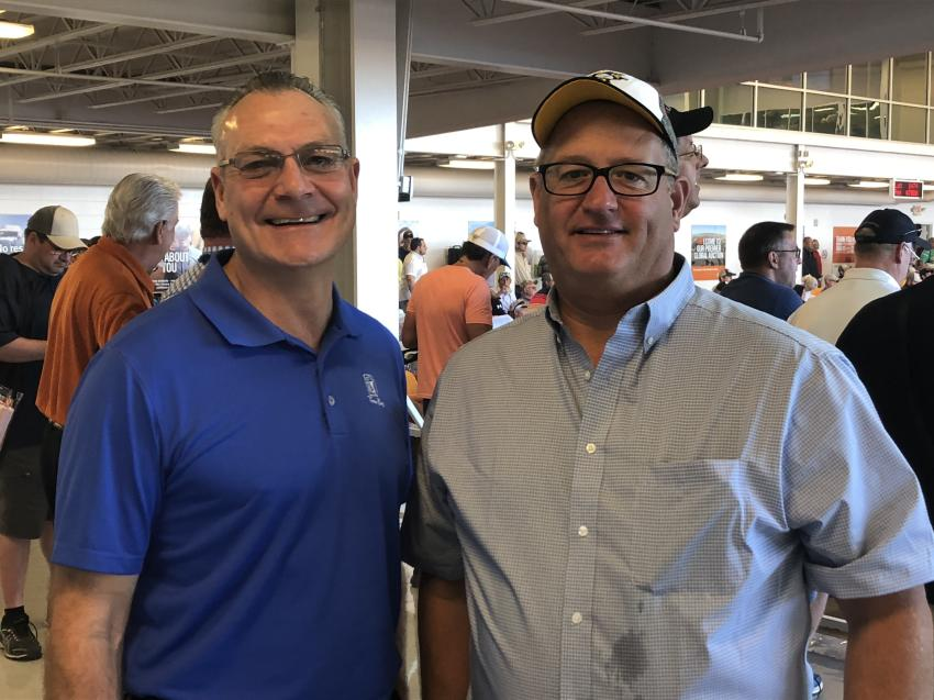 Tom Schachner (L), vice president of sales, and Dan Meszaros, account manager, construction equipment, both of Cleveland Brothers.