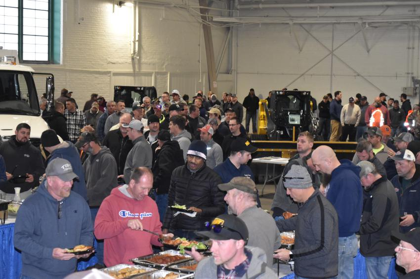 Tracey Road Equipment and its suppliers provided lunch for approximately 400 attendees.