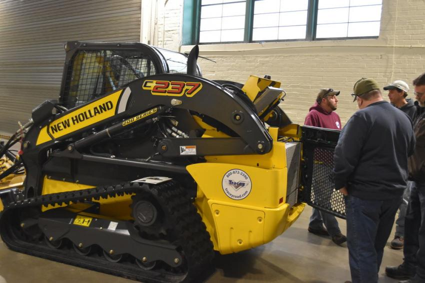The New Holland model C237 captured the attention of attendees, who quickly noticed the design with easy maintenance and service in mind.