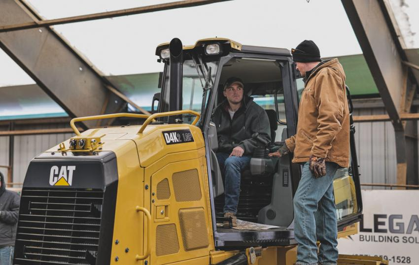 One of the machines featured at the Ziegler Cat Winter Demo was the D4K2 LGP dozer.