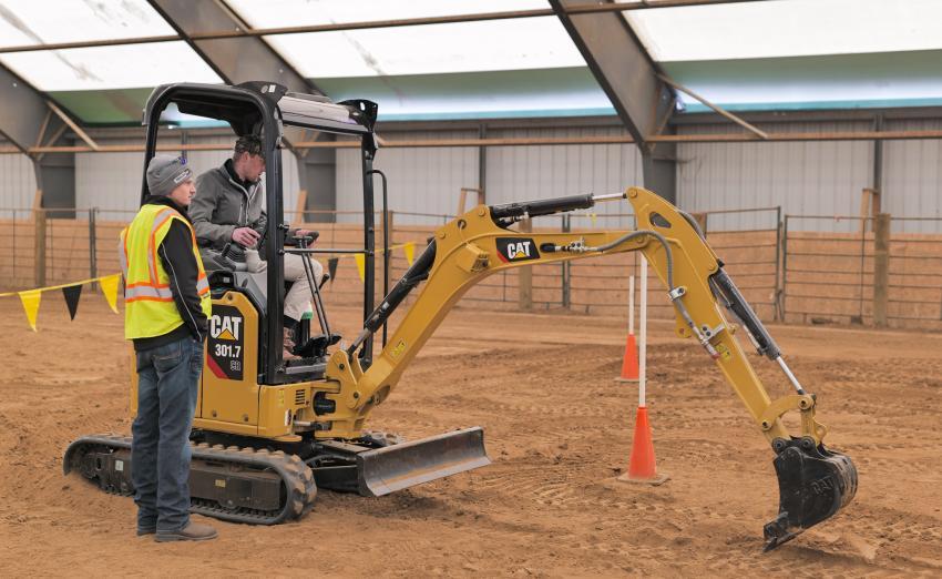 Ziegler Cat's Winter Demo featured the Cat 301.7 micro-excavator.