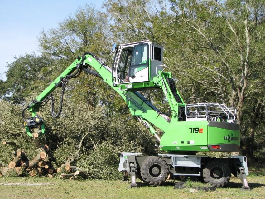The cab extension/tilt becomes a crucial feature for this machine for visibility when cutting up high in a tree or stacking limbs.