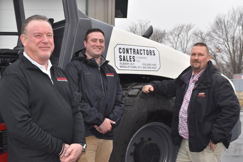 The sales team of Contractors Sales' Middletown location represents decades of experience satisfying the needs of some of the largest fleet owners in New York state. (L-R) are Scott DuBois, vice president of sales; Tom Scofield, territory manager; and Jeremy Rauf, assistant sales manager.