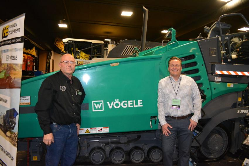 Exhibitors at the 47th edition of the RMACES included Honnen Equipment. Bill Wright (L); Honnen product specialist of the Wirtgen product group and Jonathan Asbury, vice president of Honnen, were available to address customers full line of paving equipment.