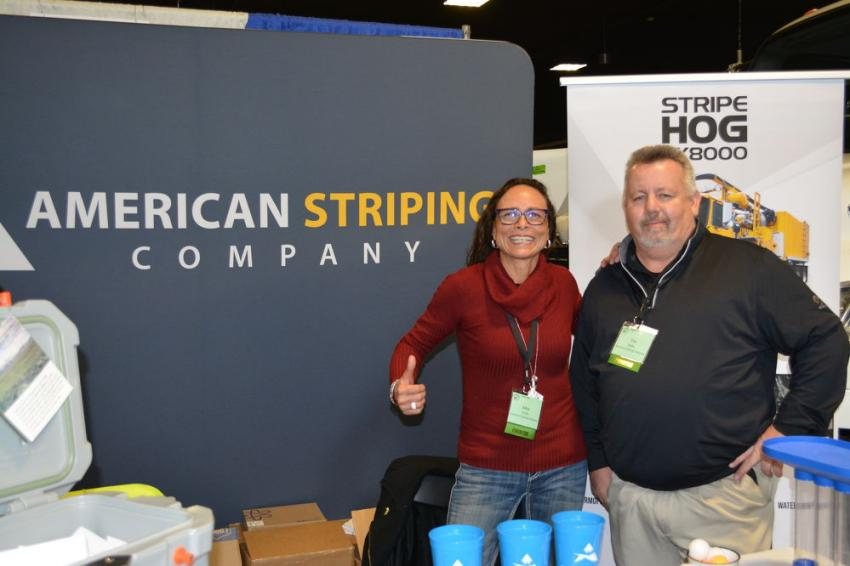 Alma Trujillo and Tim Ridley of American Striping Company, leading provider of pavement marking services in the Rocky Mountain region.