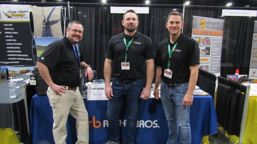 (L-R): Cody Eck, of Idaho, Gene Jones of Utah and Myke Thurman of Utah representing Ritchie Bros.