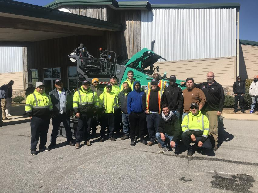 There was a large showing from Ruston Paving with representatives from its Durham and Greensboro, N.C., locations in attendance.