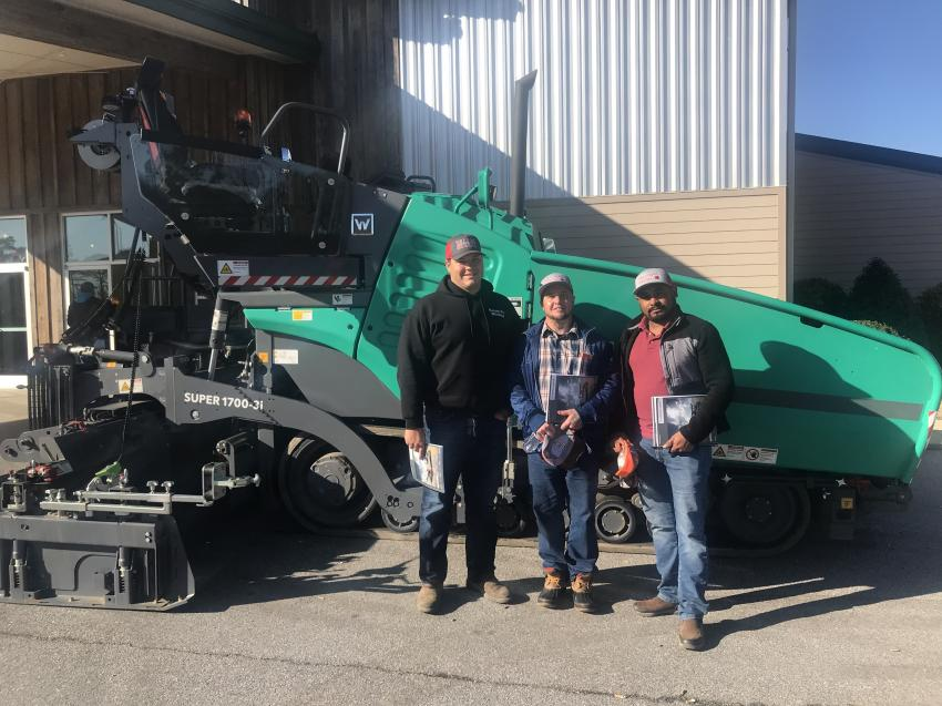 """Williams Paving of Simms, N.C., was among the crowd privileged to hear Tim Kowalski and """"Nars"""" Narsingh's seminar."""