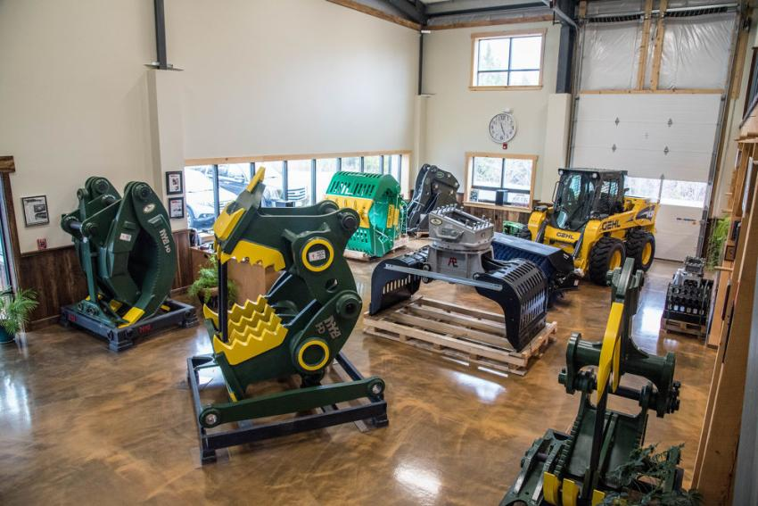 The National Attachments showroom features a wide assortment of construction equipment attachments available from the finest manufacturers across the world.