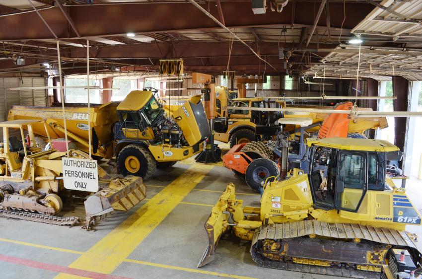 The company now has 14 service bays to service machines and off-road trucks.