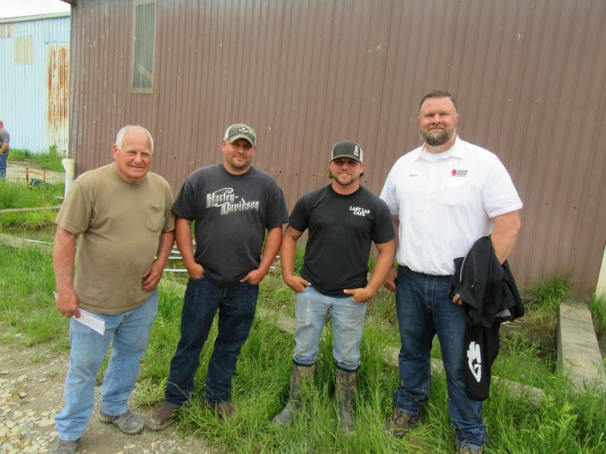 (L-R): Father and son team, Dan and Duston Barnes of B&B Excavating and Hauling, joined Dan's other son, Tyler Barnes of Barnes Hot Shot Services and Dave Patton of Illinois Truck and Equipment to take in the Marietta Coal Company sale activities.