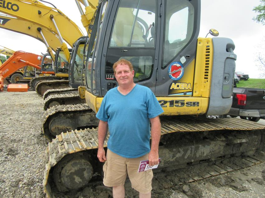 John Bevins of Bevins Sand and Gravel in Maysville, Ky., came to the Marietta Coal Company Owner Liquidation auction in search of equipment bargains.