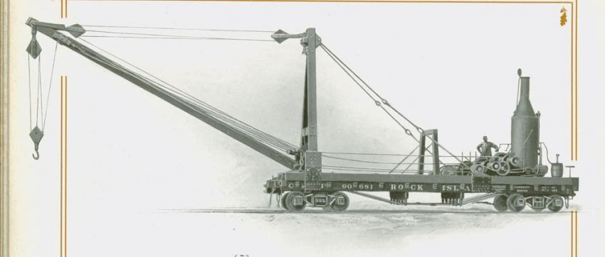 This American Hoist & Derrick machine is a bridge builders derrick, similar to those offered by other manufacturers.
