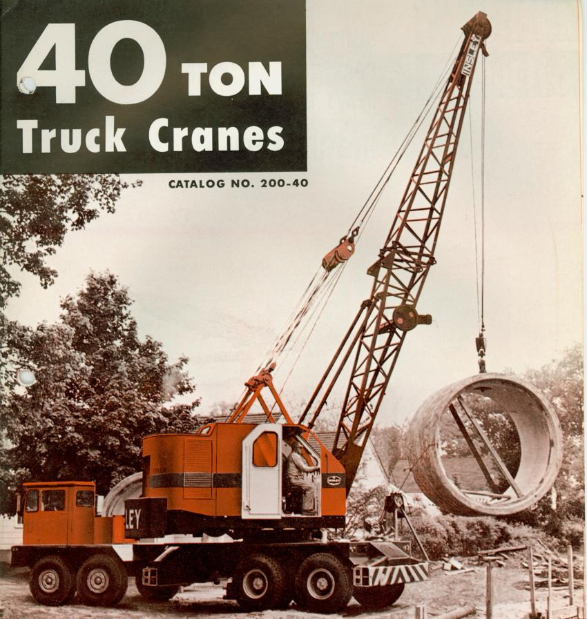 The 40-ton capacity WB was the largest truck crane offered Insley.  (HCEA photo)
