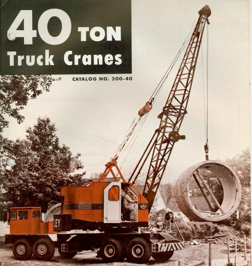 The 40-ton capacity WB was the largest truck crane offered Insley. 