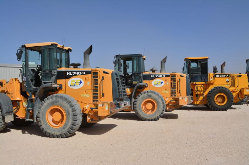 Several Hyundai 740 and 760 series loaders went up for sale at the two-day auction in Seminole, Texas between Midland and Lubbock.