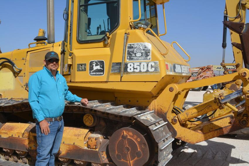This John Deere 850C dozer was one of several pieces that Jacob Klassen would bid on over the course of the sale. Klassen buys and sells ag and construction equipment in the West Texas region.