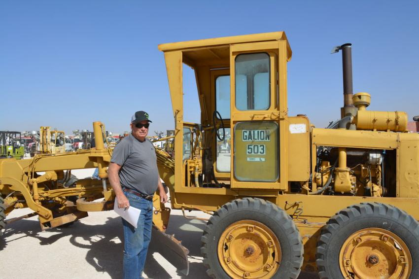 A Galion 503 L motor grader went up for sale on the first day of the auction. Philip Berry said he'd be able to put it to use on his ranch, Berry Livestock, in Hobbs, N.M.
