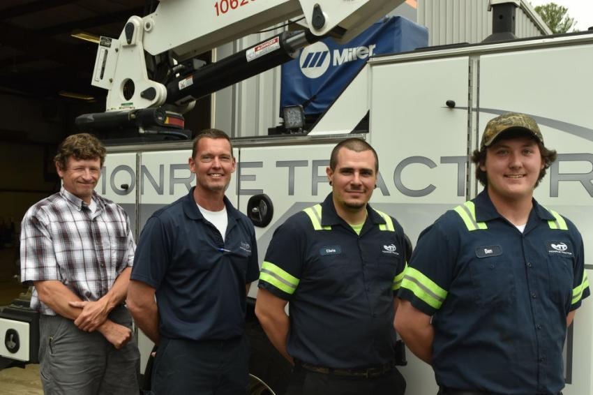 All of Monroe Tractor's product support reps and technicians are Case factory trained and certified. (L-R): Tom Crose, product support representative of Connecticut and western Massachusetts; Charlie Patenaude, service manager; Chris Donovan, field service technician; and Ben Macri, service technician.