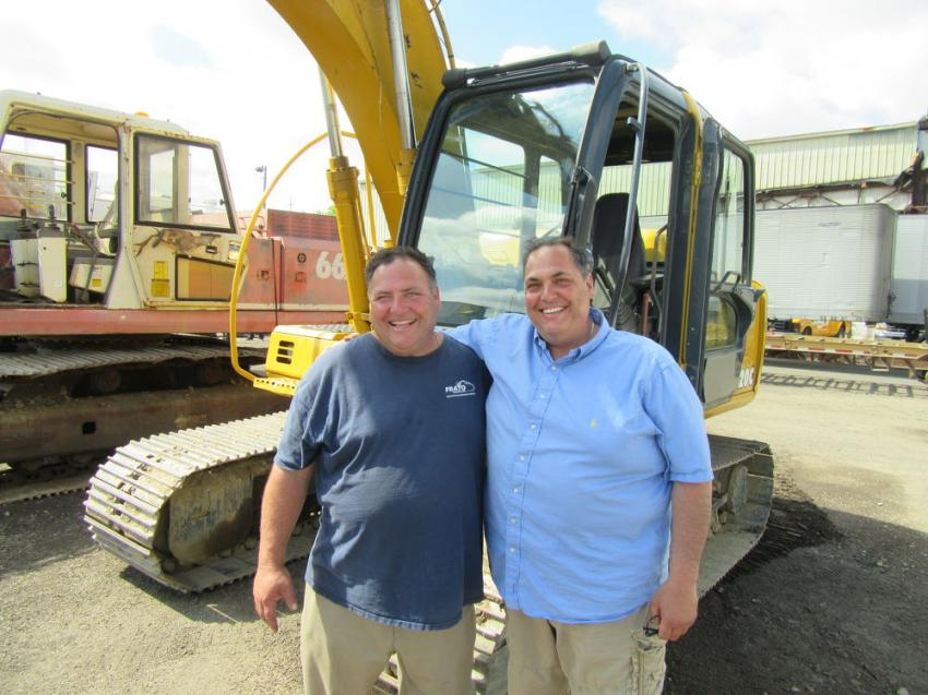 Anthony (L) and Joe Frato were pleased with the results of the auction.