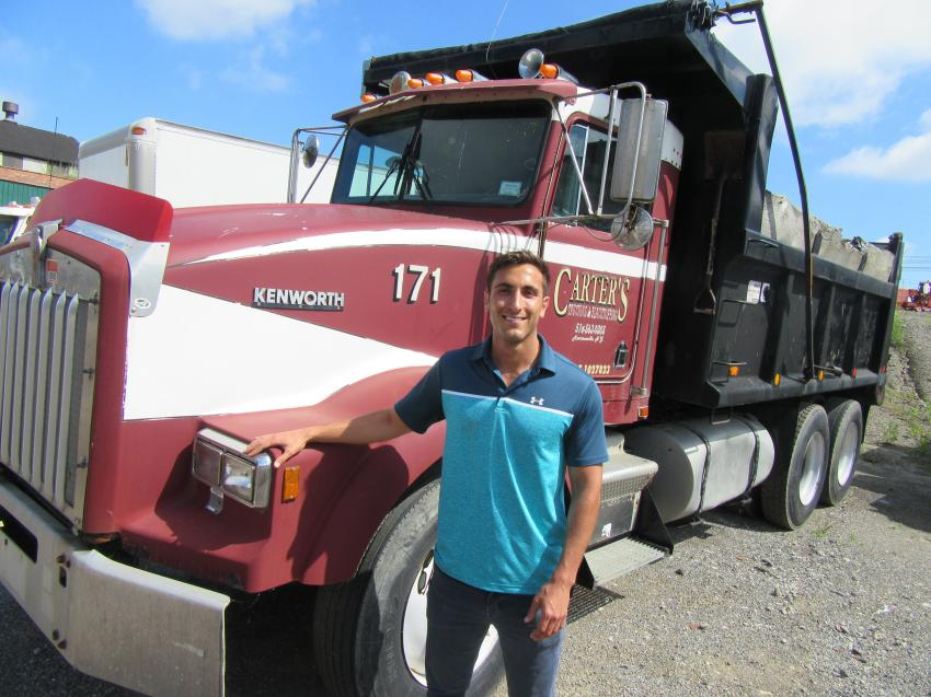 Jordan Adelman of Adelman's Truck Parts and Sales, based in Canton, Ohio, was at the auction in search of trucks.