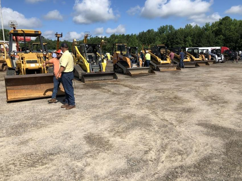 The selection of compact track loaders attracted a number of bidders.