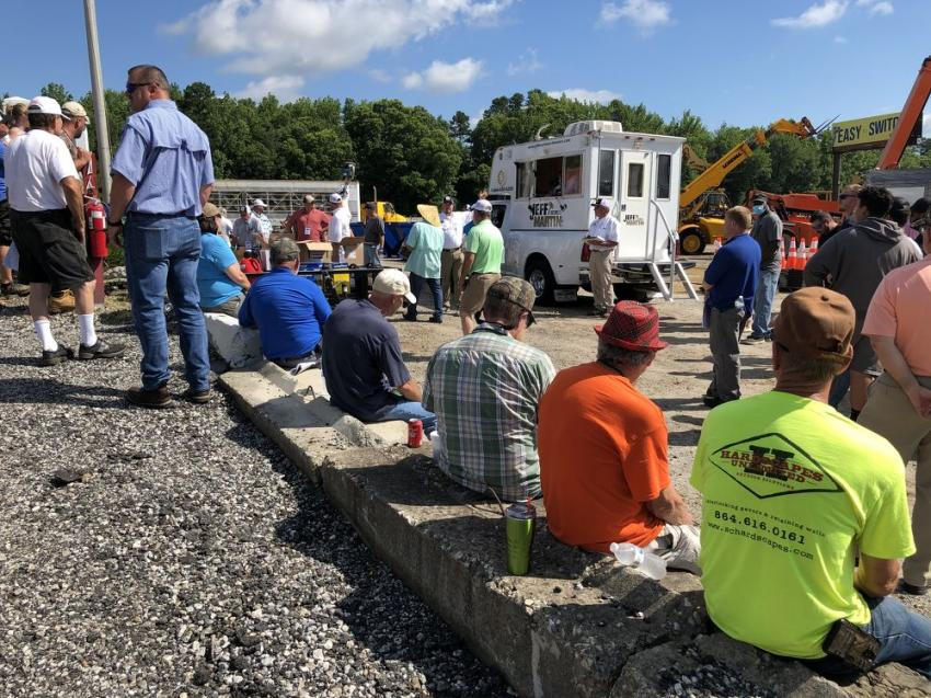Always looking out for their friends and customers, Jeff Martin Auctioneers auctioned off the items as they sat, instead of driving them over the ramp as they have done in the past.