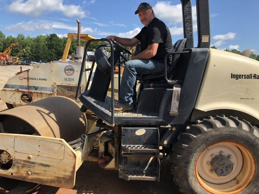 Mike Shuler of Mike Shuler Excavating in Bryson City, N.C., planned to bid on this I-R roller.
