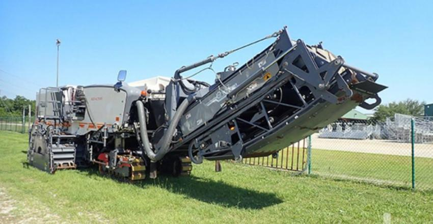 This 2015 Wirtgen W250I cold planer (lot #142) sold for $470,000 at an offsite auction in Gonzales, La., about 60 miles west of New Orleans.