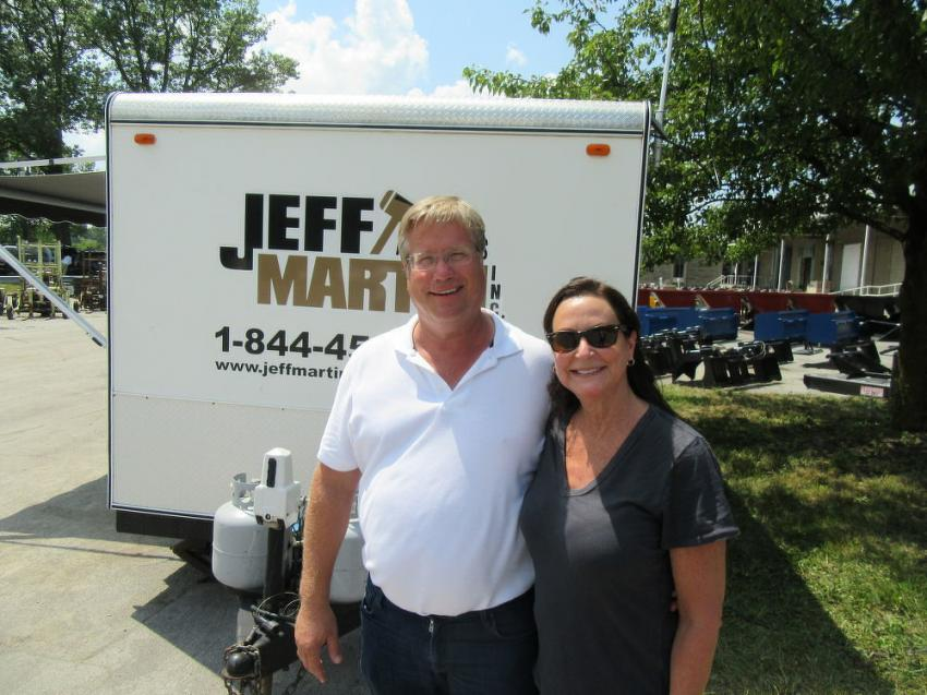 Jim and Kathy Weber of Ohio Mulch monitored the sale's progress. Due to equipment updates and business acquisitions, many of the items up for bid were provided from their company's surplus.