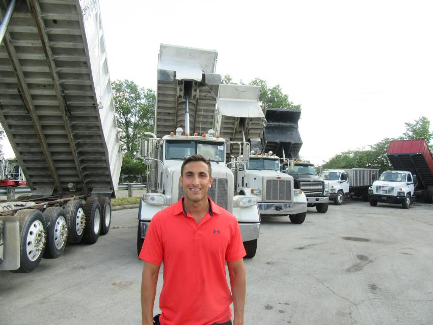 Adelman's Truck Parts and Sales' Jordan Adelman reviewed the lineup of trucks offered for auction.