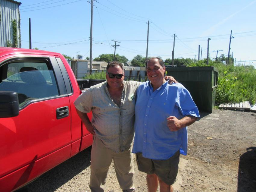 Anthony (L) and Joe Frato were pleased to have landed the winning bid on this truck.