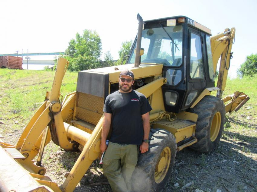 MGC Enterprises' Mike Camaglia bought this Caterpillar 426B backhoe.