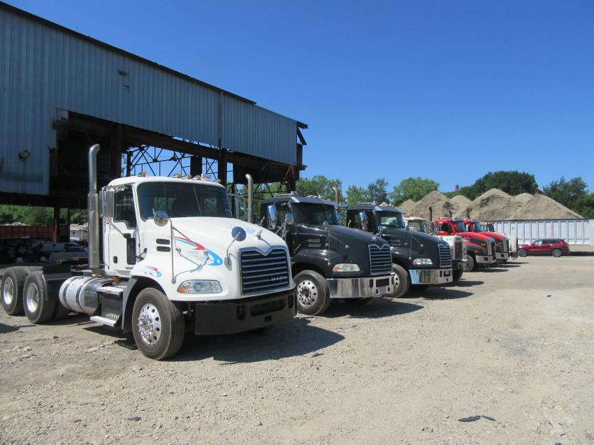 At the July 18 Alex Lyon & Son auction in Cleveland, Ohio, bidders had a large selection of truck tractors to choose from.