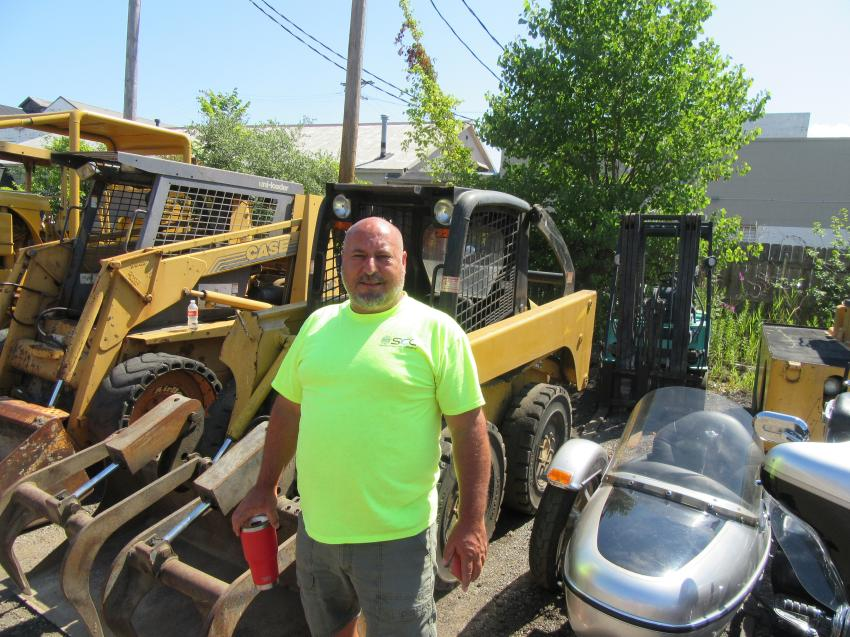 Bill Suglia of Suglia Excavating thought that one of these skid steers would make a worthwhile addition to his equipment fleet.