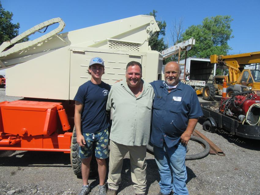 (L-R): Anthony Frato, with his uncle, also named Anthony Frato, of Frato Products, joined Andy Kiss of Andy's Empire Construction and Demolition to take in the auction.