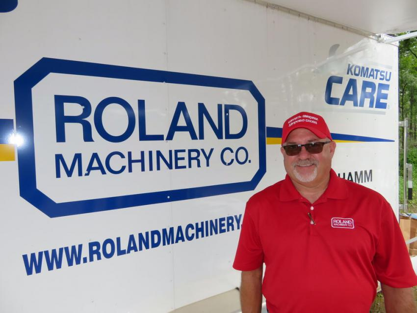 Jay Germann, corporate used equipment manager of Roland Machinery Co., was on hand to answer any used equipment questions.