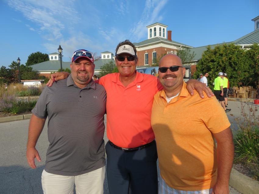 (L-R) Andy Weimer of DBK Salt; David Zenere of Z-Force Transportation; and Matt Weimer of DBK Salt look forward to a good round of golf.