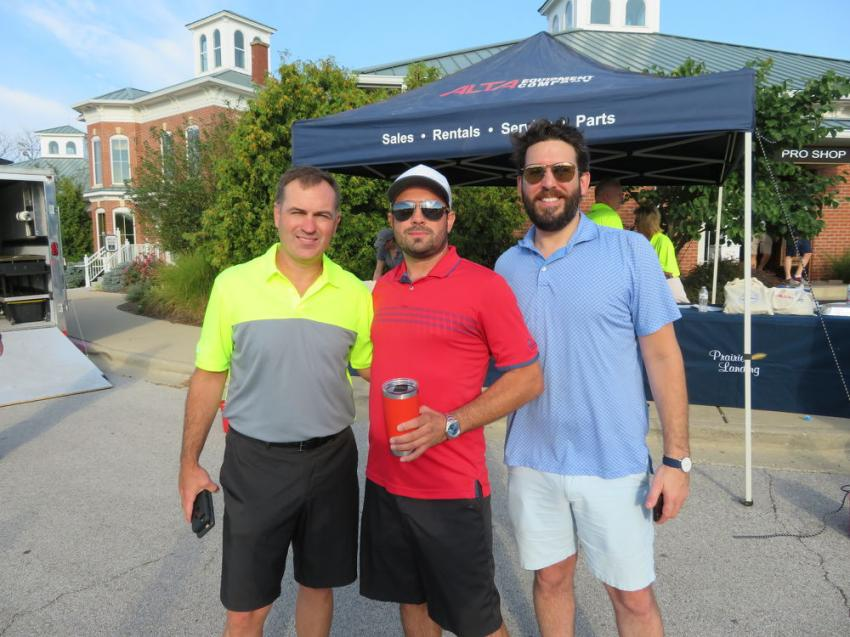 (L-R) are Jeff Ader of Alta Equipment; Gary Longoria of GMI Services; and David Hallahan of Volvo Financial Services.