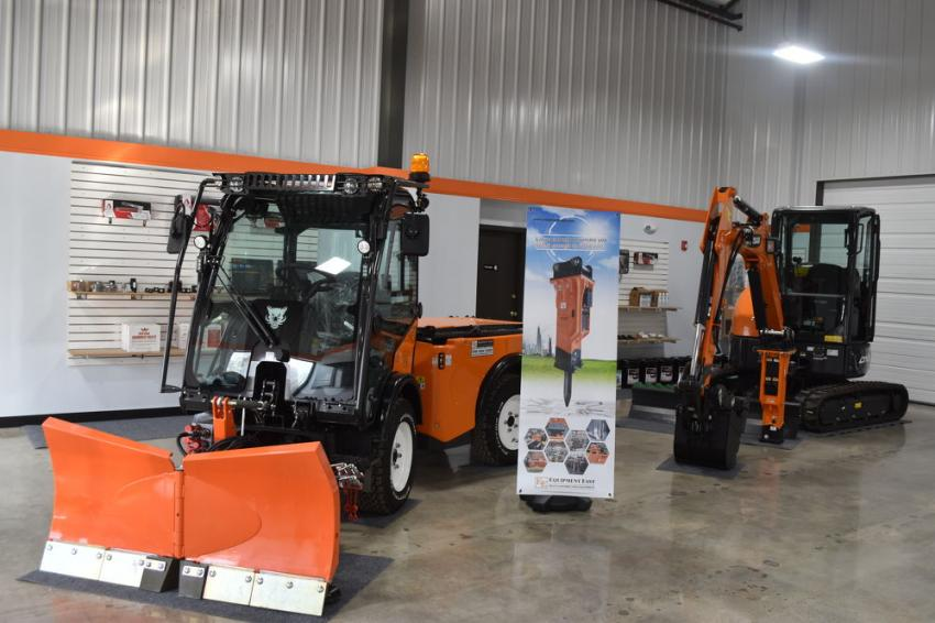 Multi-Hog, a diverse machine with a wide variety of attachments, typically used by municipalities, is available at Equipment East's Brockton facility, as well as Doosan compact equipment.