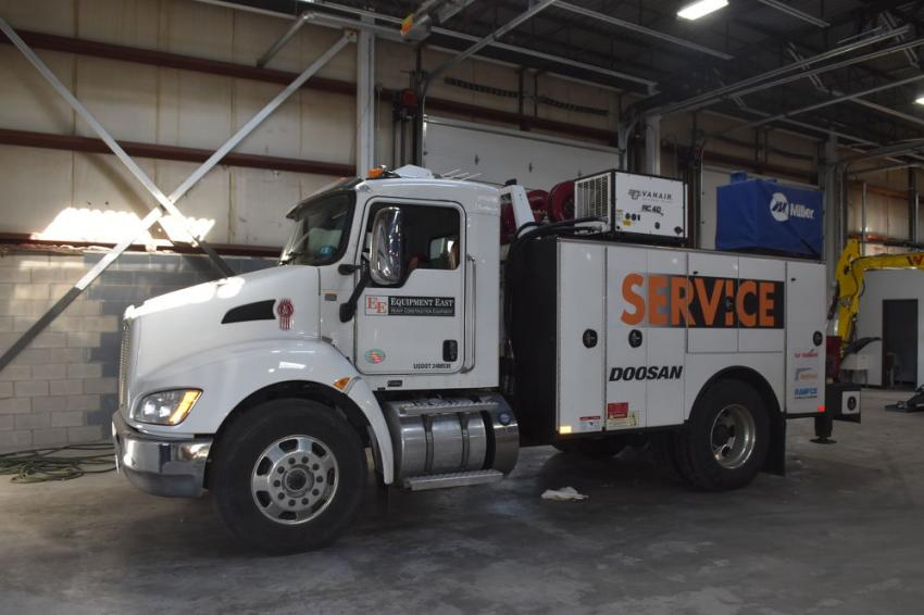 Equipment East's service trucks and technicians will be dispatched from the Brockton store, dramatically improving service response time to area contractors.